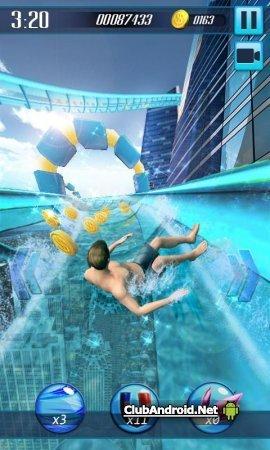 Водные горки 3D Мод без рекламы
